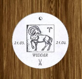 Porzellan-Anhänger Sternzeichen Widder