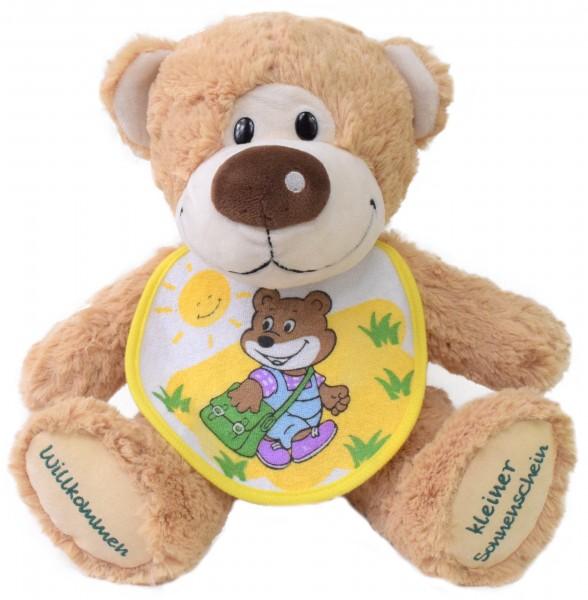 Knuddel mich Teddy - mit Lätzchen