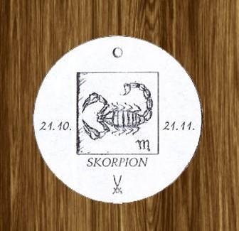 Porzellan-Anhänger Sternzeichen Skorpion