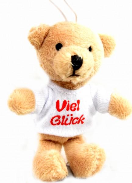"""Schlüsselanhänger Teddy Schutzengel """"Viel Glück"""""""