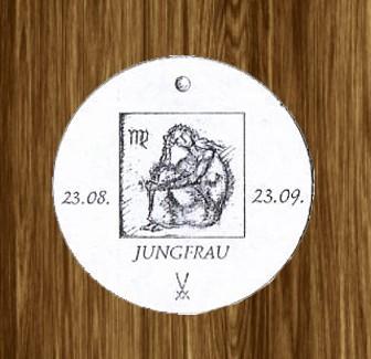 Porzellan-Anhänger Sternzeichen Jungfrau