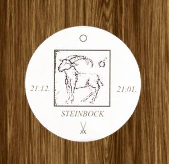 Porzellan-Anhänger Sternzeichen Steinbock