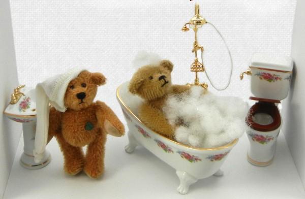 Badespaß - Teddys im Bilderrahmen