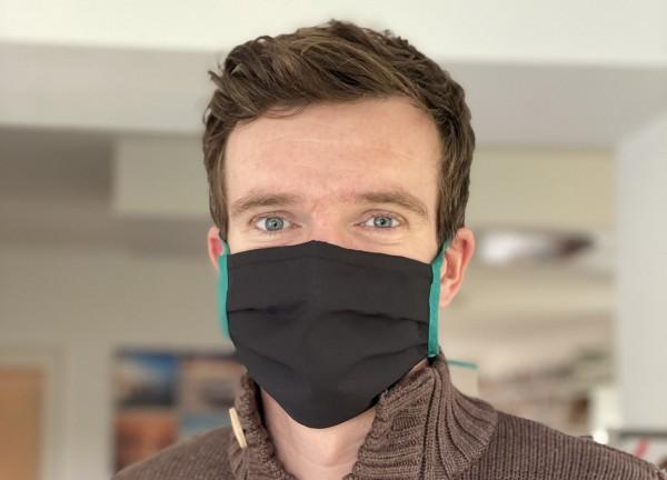 Mund-Nasen-Maske Schwarz