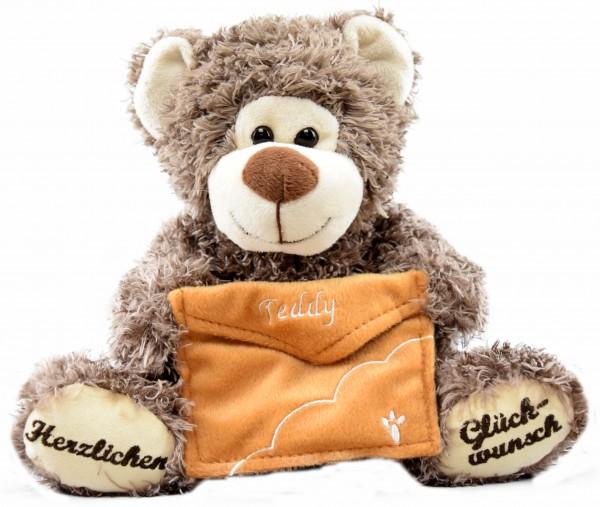 """Wünsche-Teddy """"Herzlichen Glückwunsch"""""""
