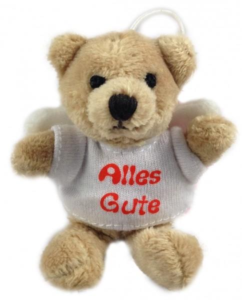 """Schlüsselanhänger Teddy Schutzengel """"Alles Gute"""""""