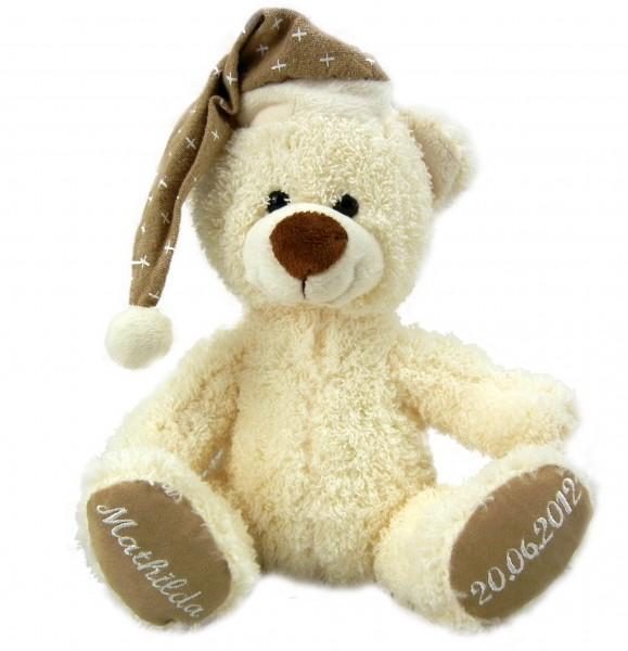 Teddybär Benni weihnachtlich mit individueller Bestickung knuddeliger Teddybär bei Martin kaufen