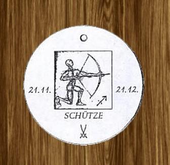 Porzellan-Anhänger Sternzeichen Schütze