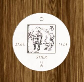 Porzellan-Anhänger Sternzeichen Stier