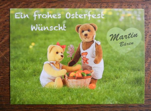 Bärige Osterkarte