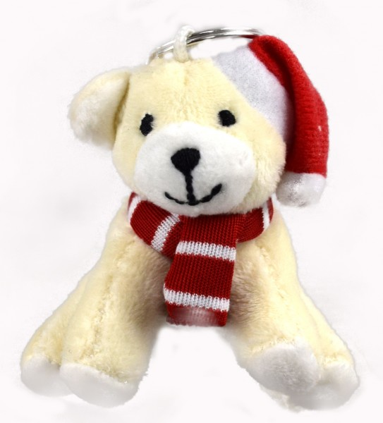 Schlüsselanhänger Weihnachseisbär