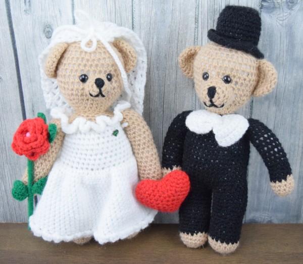 Unikat Häkel-Brautpaar